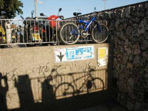 bicycle parking, central bus station. Jerusalem